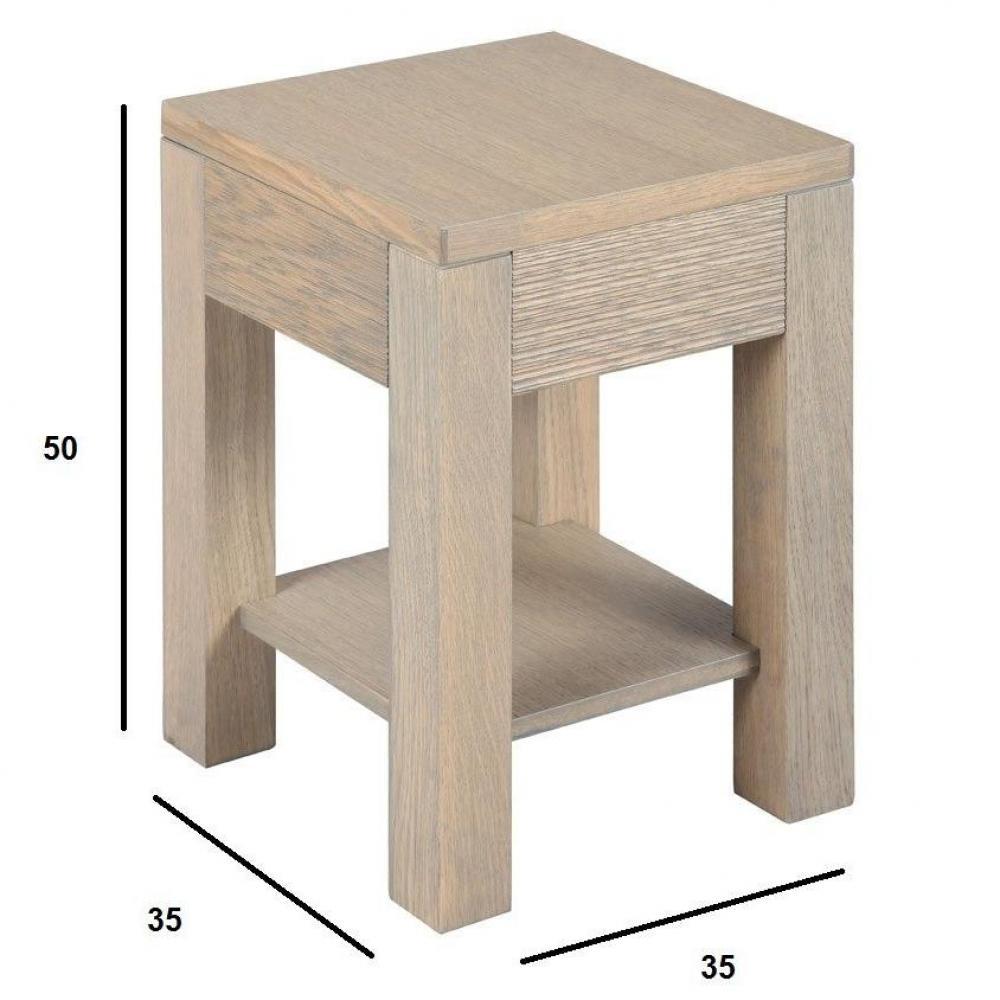 Bouts de canapes meubles et rangements bout de canap hans en ch ne massif gris taupe inside75 - Bout de canape chene ...