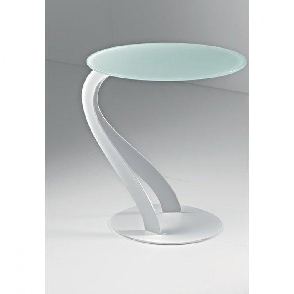 Bouts de canapes meubles et rangements bout de canap - Table bout de canape en verre design ...