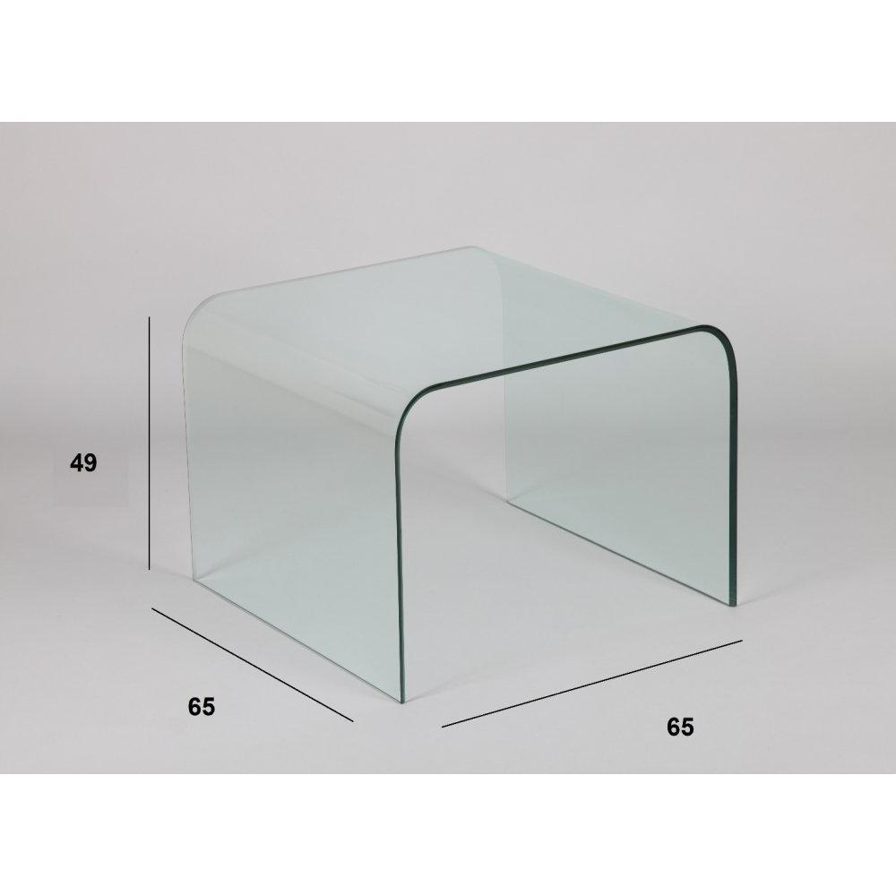 Bouts de canapes meubles et rangements bout de canap carr cristalline en - Bout de canape verre ...