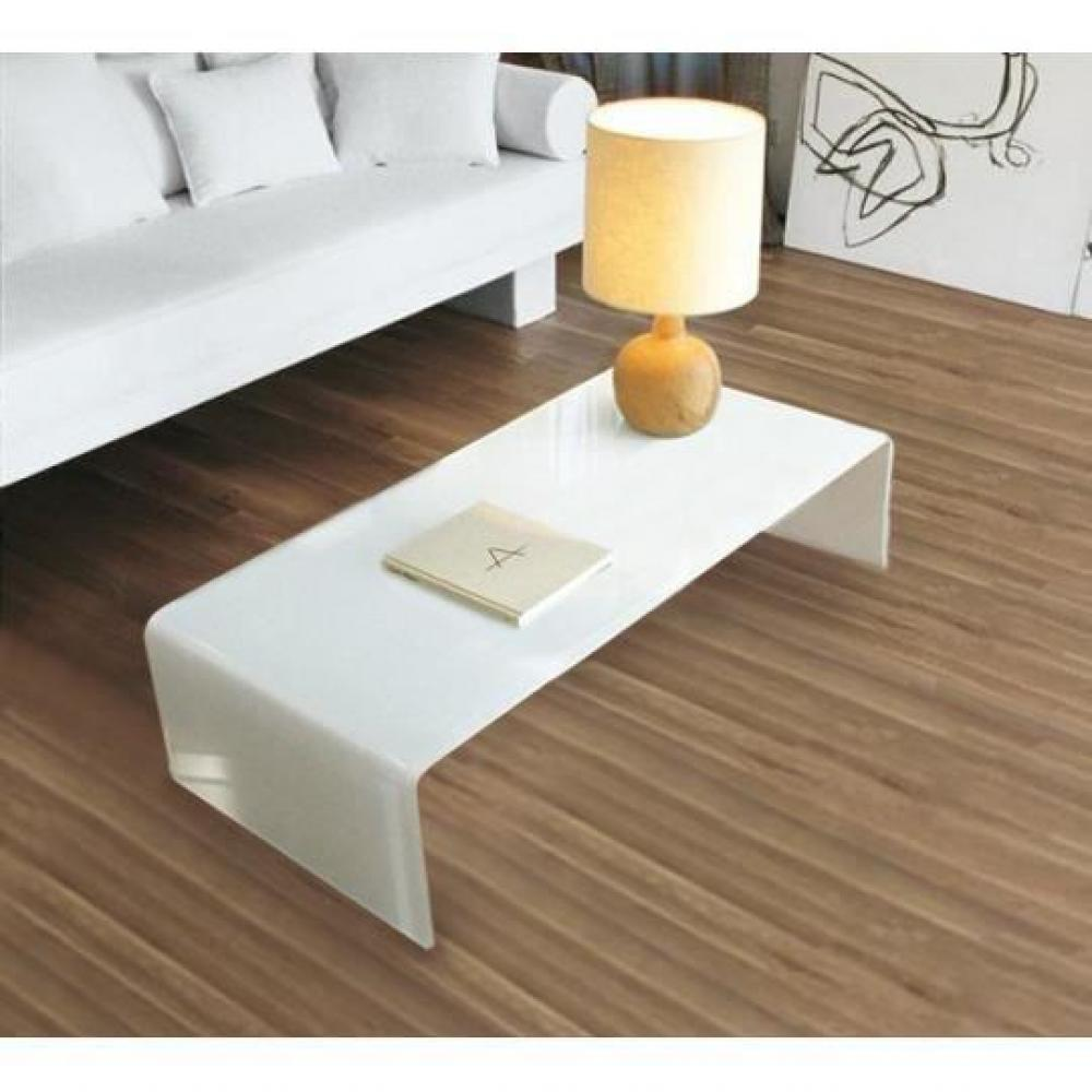 tables basses tables et chaises table basse bridge en verre blanc inside75. Black Bedroom Furniture Sets. Home Design Ideas