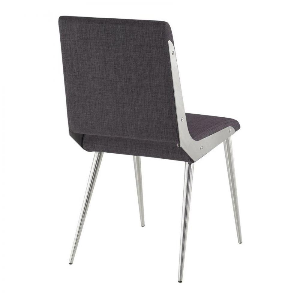 chaises tables et chaises chaise design brio grise inside75. Black Bedroom Furniture Sets. Home Design Ideas