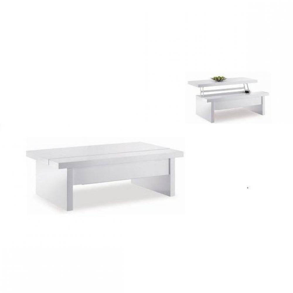 Accueil tables table basse table basse industrielle noire - Table basse relevable blanche ...