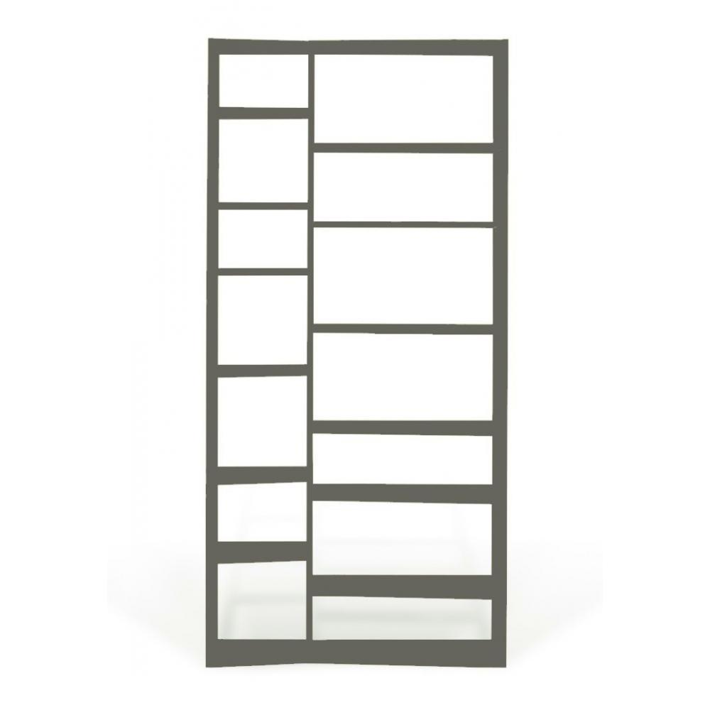 biblioth ques tag res meubles et rangements temahome valsa 1 biblioth que design grise inside75. Black Bedroom Furniture Sets. Home Design Ideas