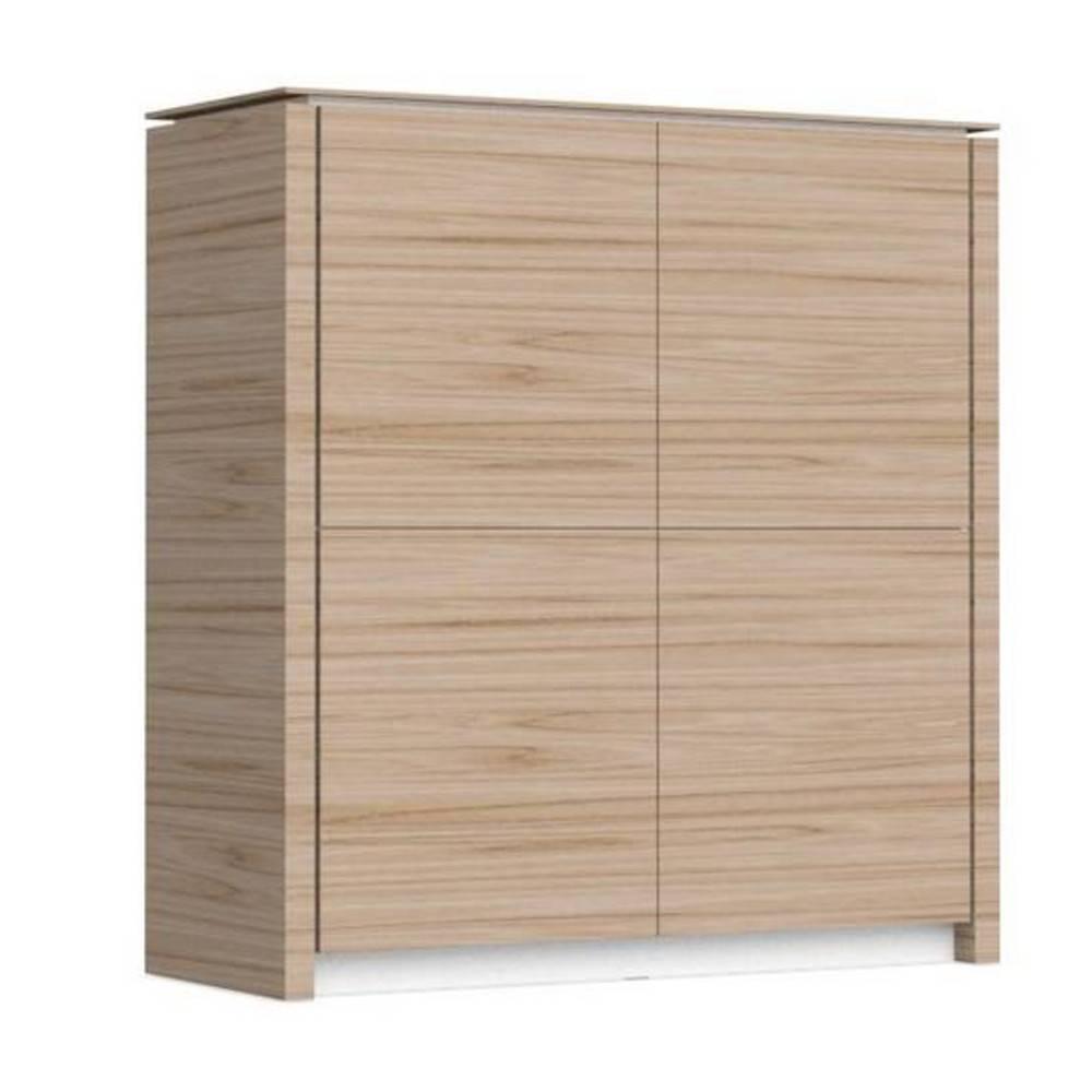 buffets meubles et rangements buffet bas mag wood de calligaris en bois naturel 4 portes. Black Bedroom Furniture Sets. Home Design Ideas
