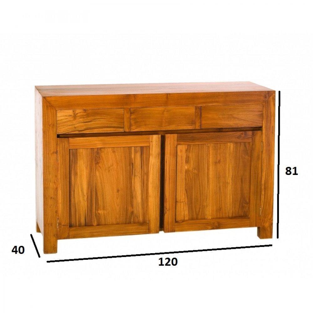 Buffets meubles et rangements buffet bali 2 portes 3 tiroirs en teck style - Buffet style colonial ...