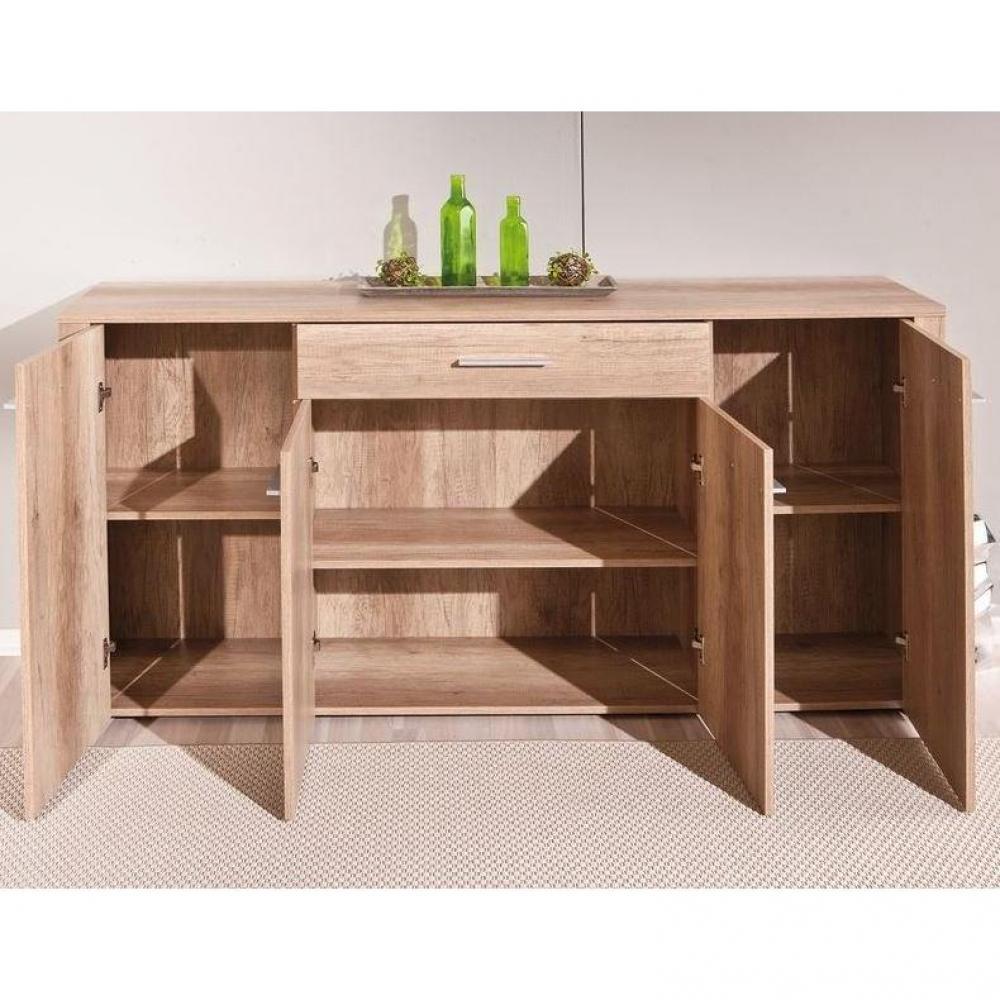 buffets meubles et rangements buffet absoluto ch ne brut 4 portes 1 tiroir. Black Bedroom Furniture Sets. Home Design Ideas