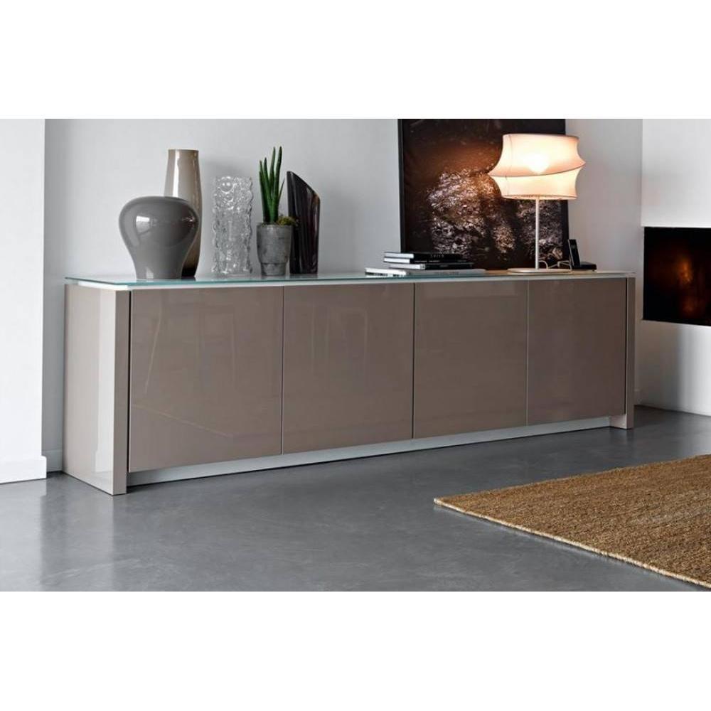 buffets meubles et rangements buffet bas mag de calligaris gr ge brillant avec plateau en. Black Bedroom Furniture Sets. Home Design Ideas