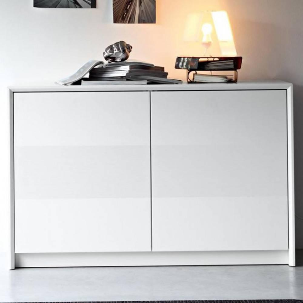 Buffets meubles et rangements buffet password de calligaris blanc 2 portes - Buffet 2 portes blanc ...