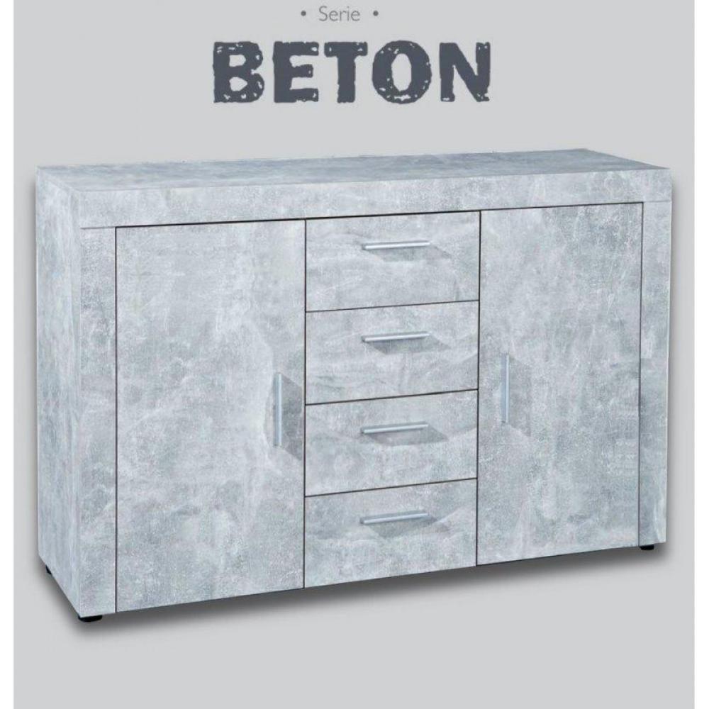 Buffets meubles et rangements buffet 2 portes et 4 tiroirs aspect b ton inside75 - Buffet 2 portes 2 tiroirs ...