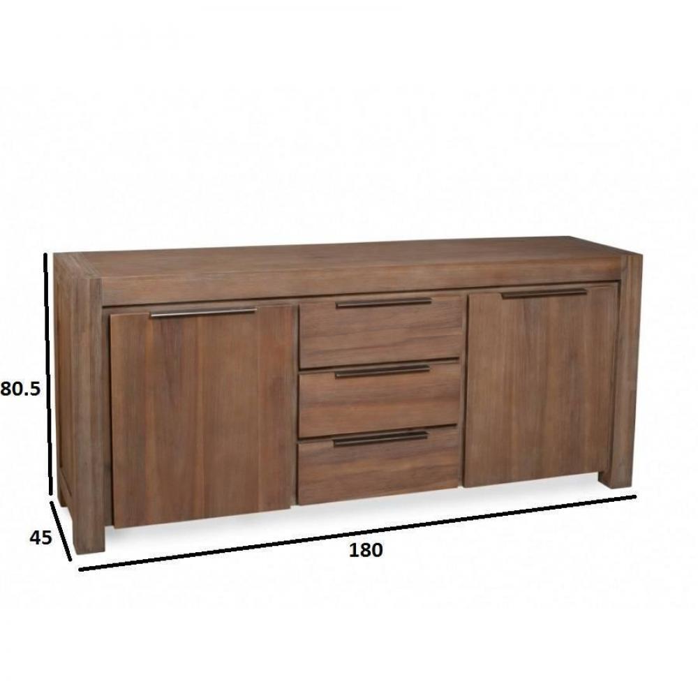 buffets meubles et rangements buffet 2 portes 3 tiroirs nina en acacia style charme et. Black Bedroom Furniture Sets. Home Design Ideas