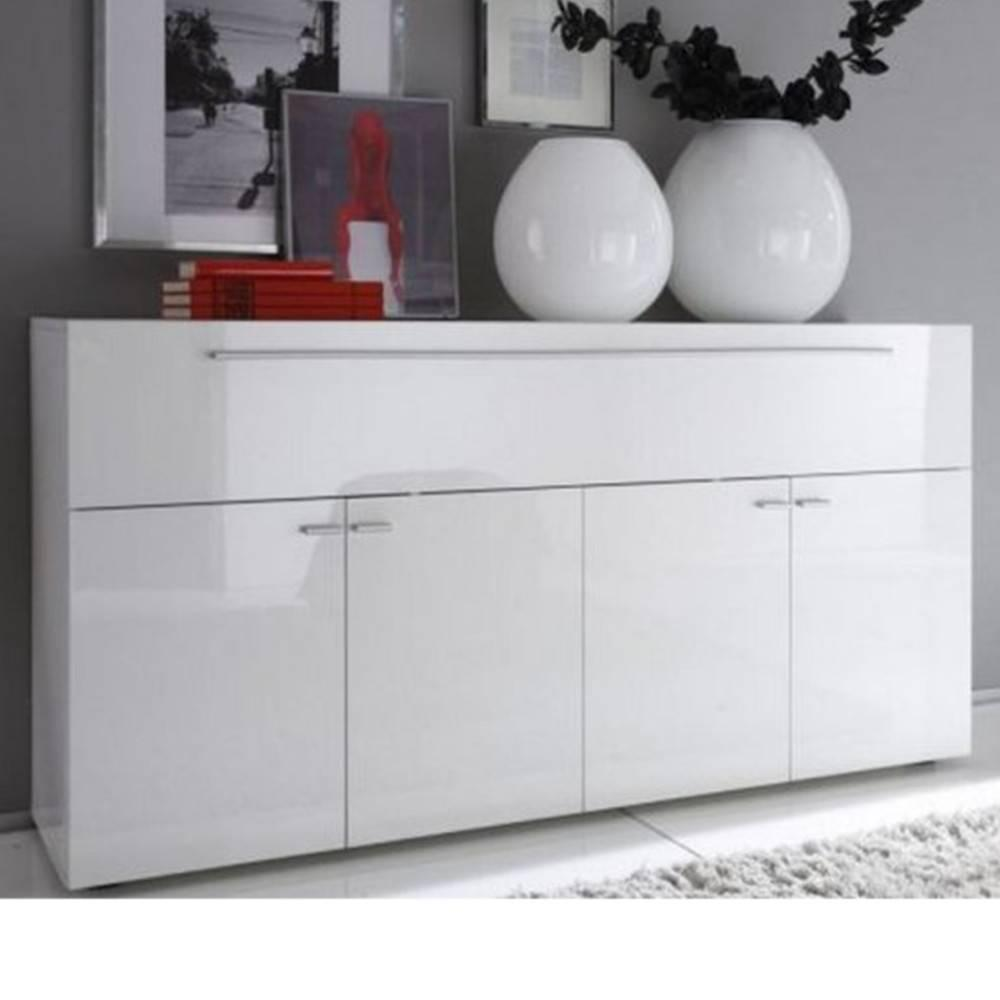 buffets meubles et rangements buffet design primera blanc brillant 5 portes inside75. Black Bedroom Furniture Sets. Home Design Ideas