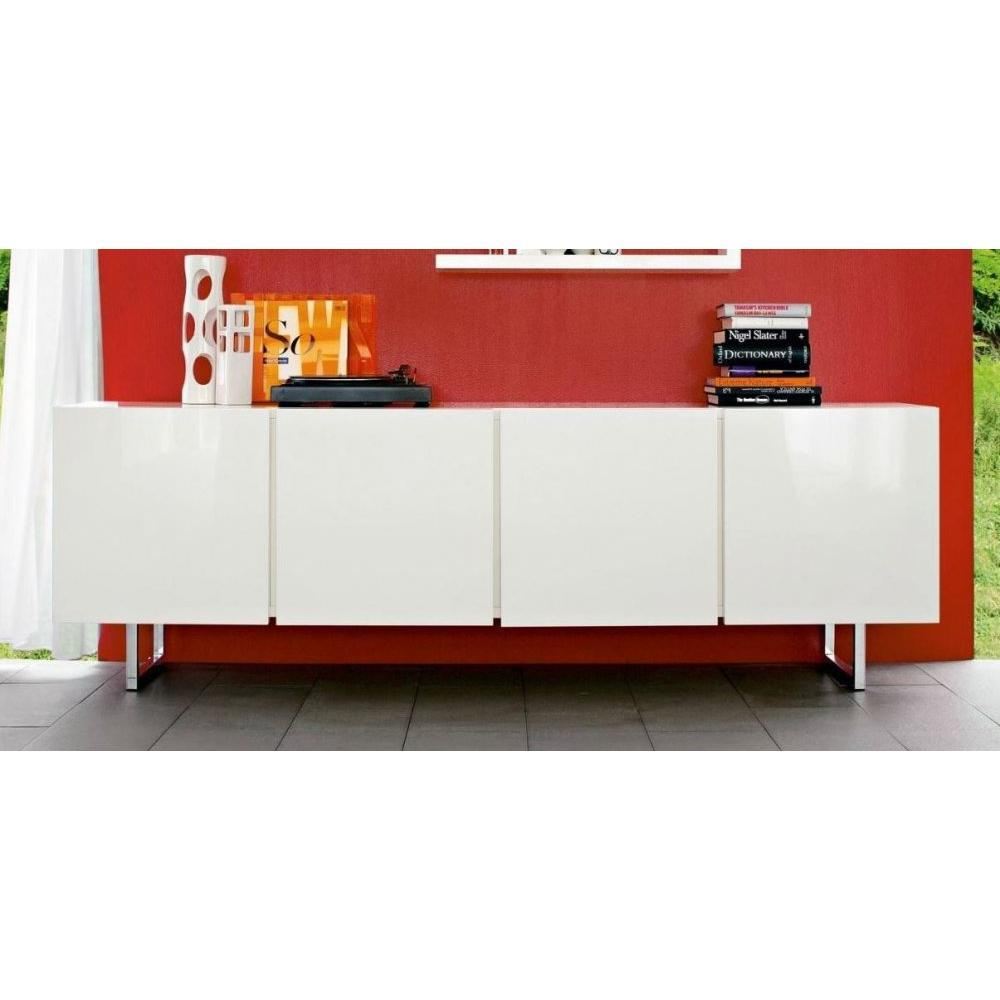 buffets meubles et rangements buffet bas design seattle blanc brillant 4 portes de calligaris. Black Bedroom Furniture Sets. Home Design Ideas