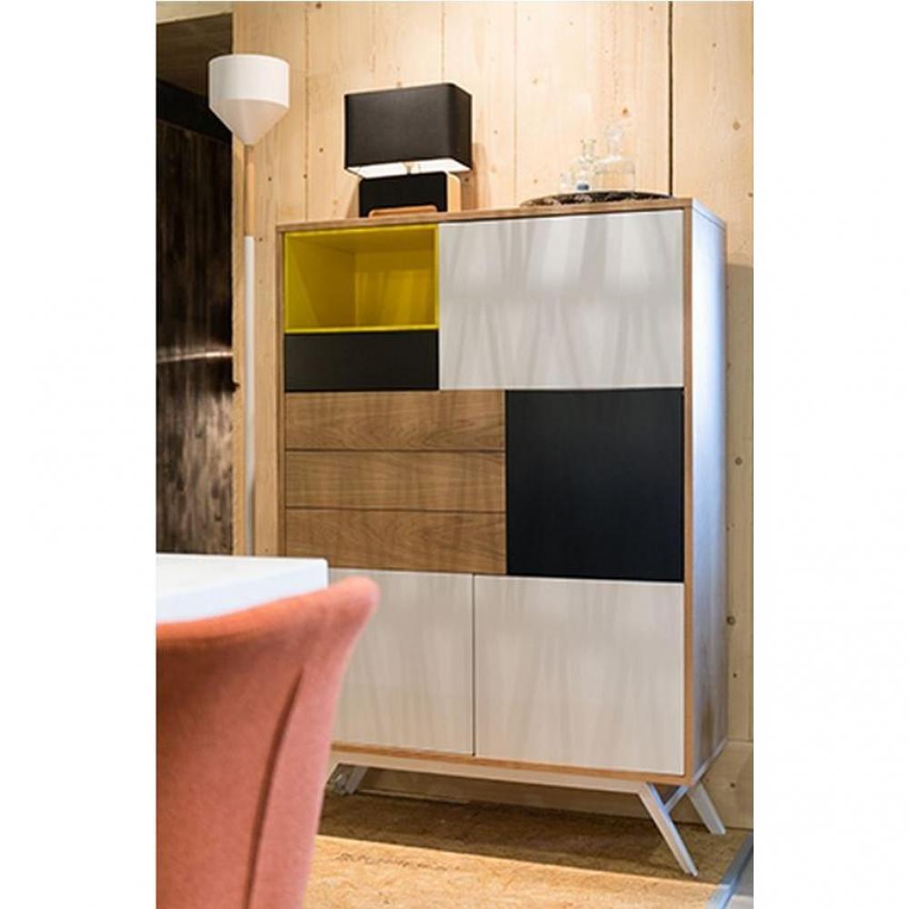 buffets meubles et rangements buffet alps jaune 5 portes. Black Bedroom Furniture Sets. Home Design Ideas