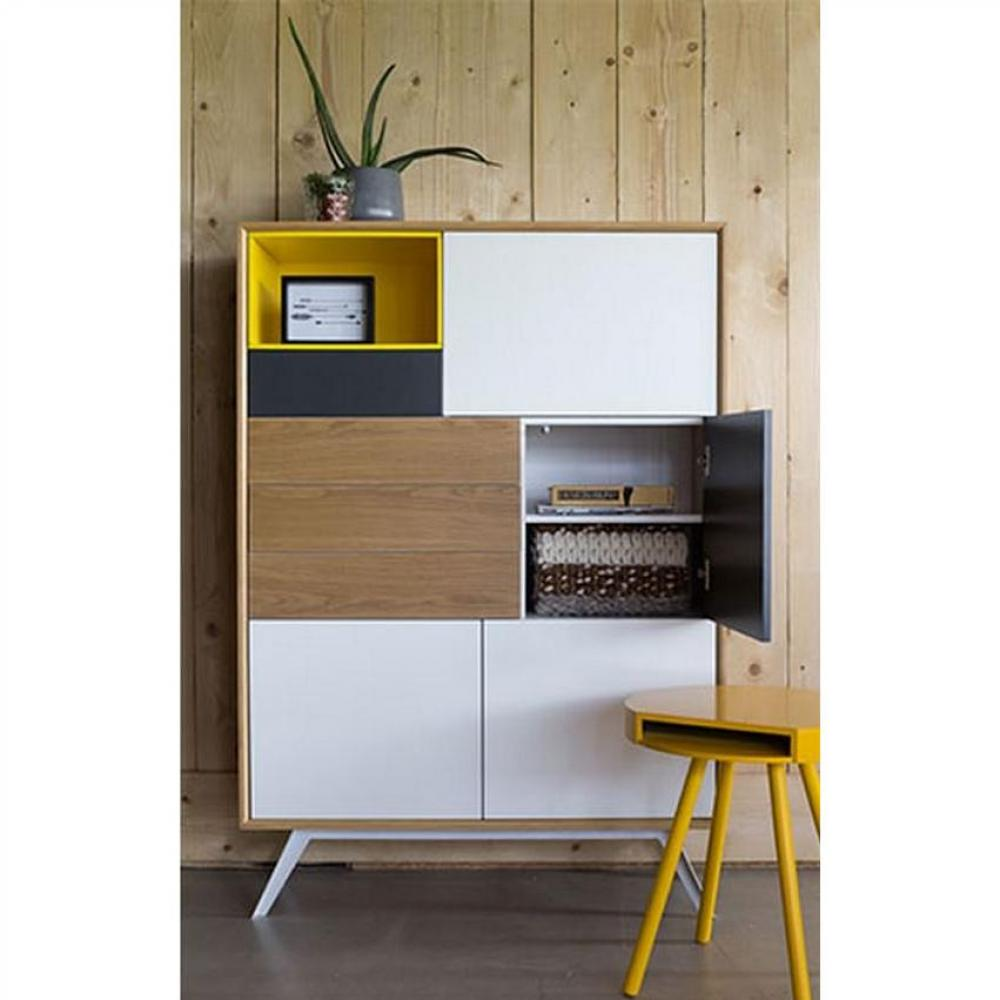 buffets meubles et rangements buffet alps jaune 5 portes. Black Bedroom Furniture Sets. Home Design Ideas