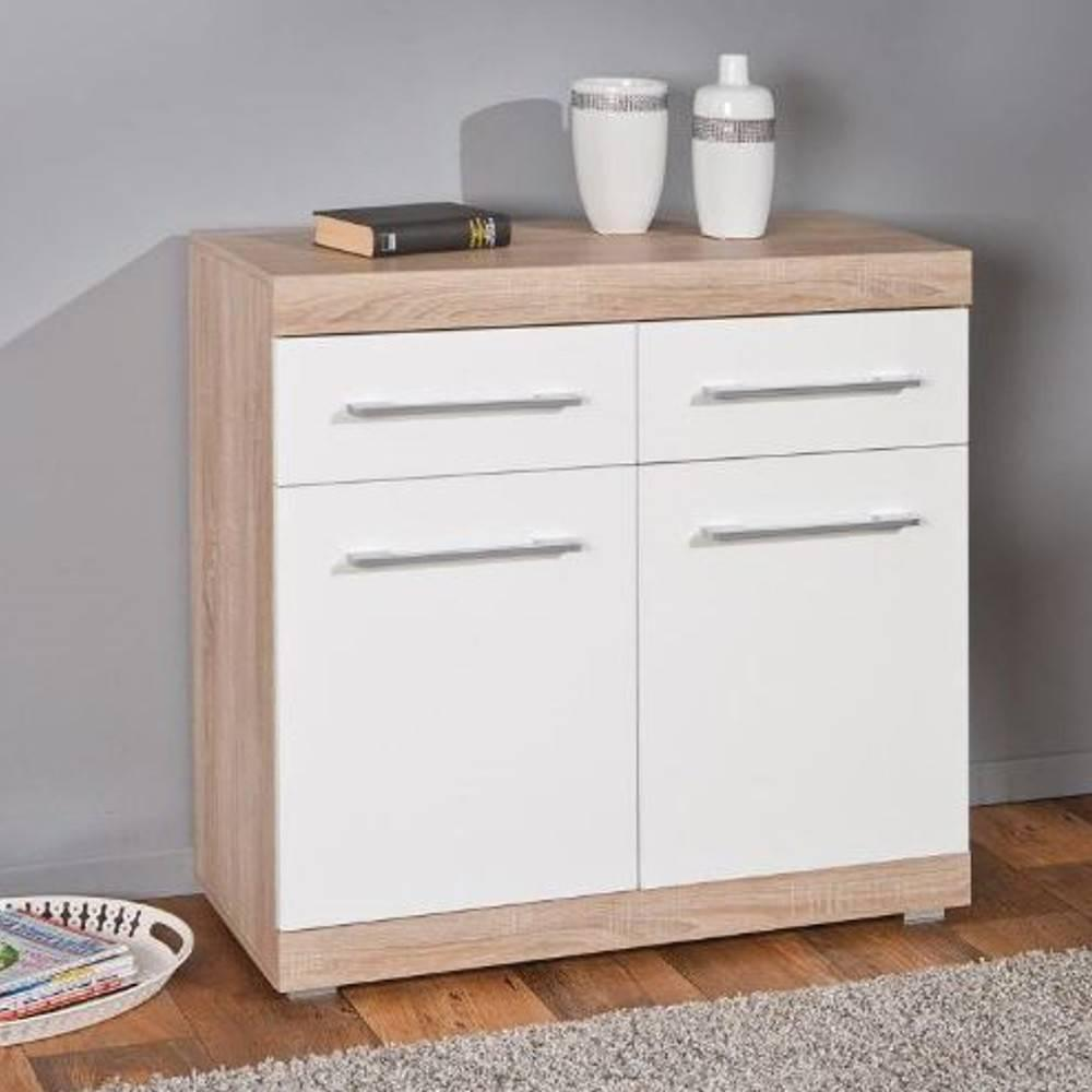 buffets meubles et rangements buffet lublin ch ne blanc 3 portes 3 tiroirs inside75. Black Bedroom Furniture Sets. Home Design Ideas