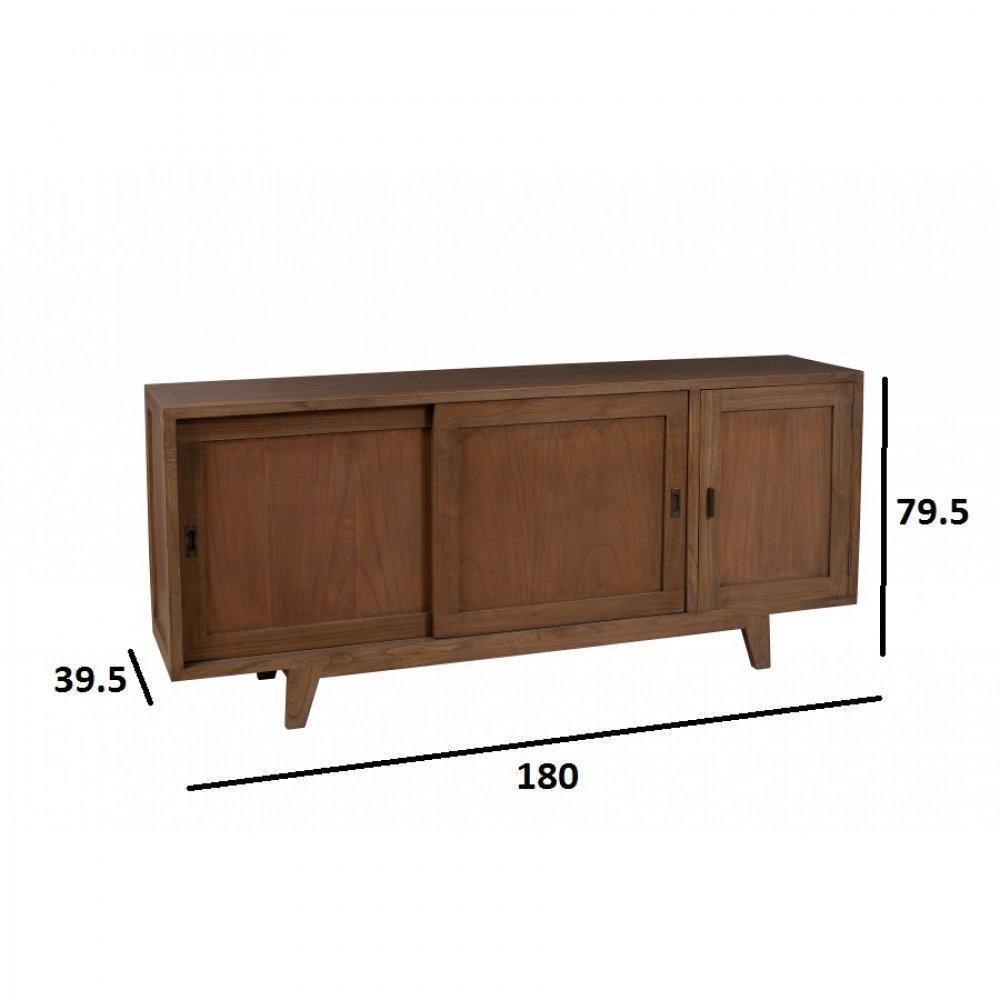 Buffets meubles et rangements buffet portes coulissantes laura en mindi sty - Buffet style colonial ...