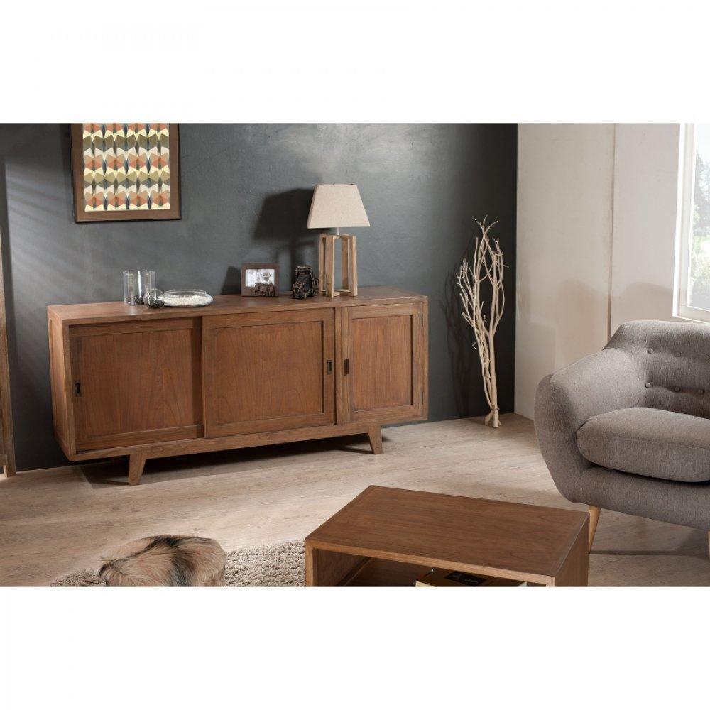buffets meubles et rangements buffet portes coulissantes laura en mindi style colonial inside75. Black Bedroom Furniture Sets. Home Design Ideas