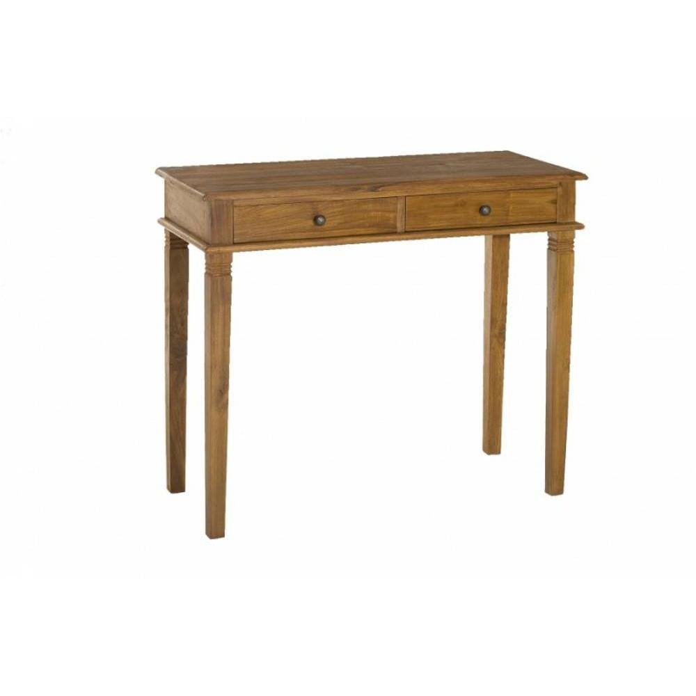 Table bureau bois teck for Table bureau bois
