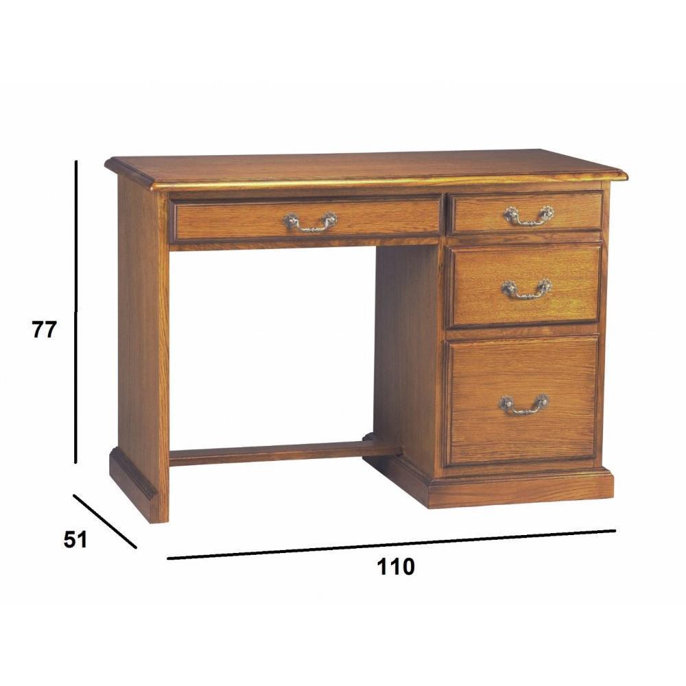 bureau demi ministre francois 4 portes en ch ne ebay. Black Bedroom Furniture Sets. Home Design Ideas