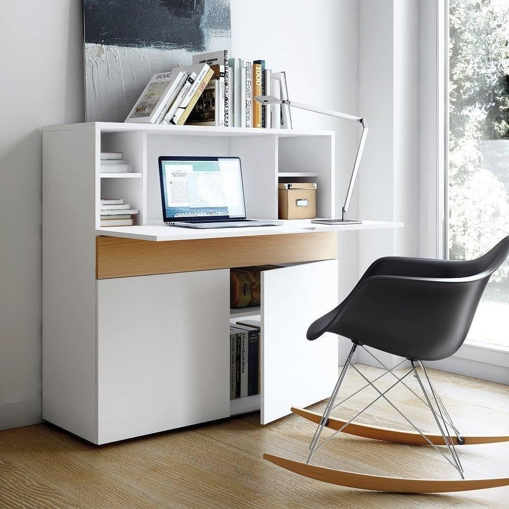 Bureaux meubles et rangements bureau compact focus blanc - Bureau secretaire design ...
