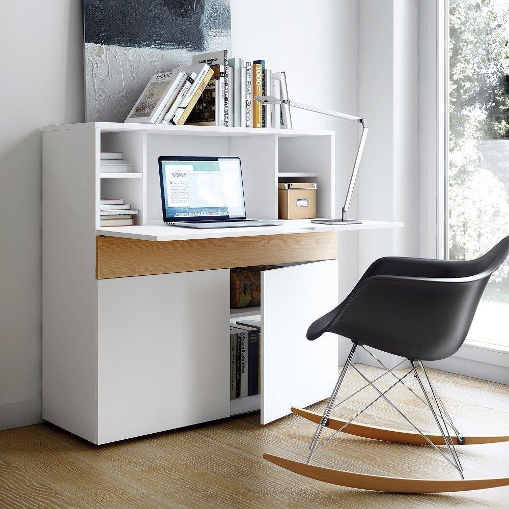 bureaux meubles et rangements bureau compact focus blanc. Black Bedroom Furniture Sets. Home Design Ideas