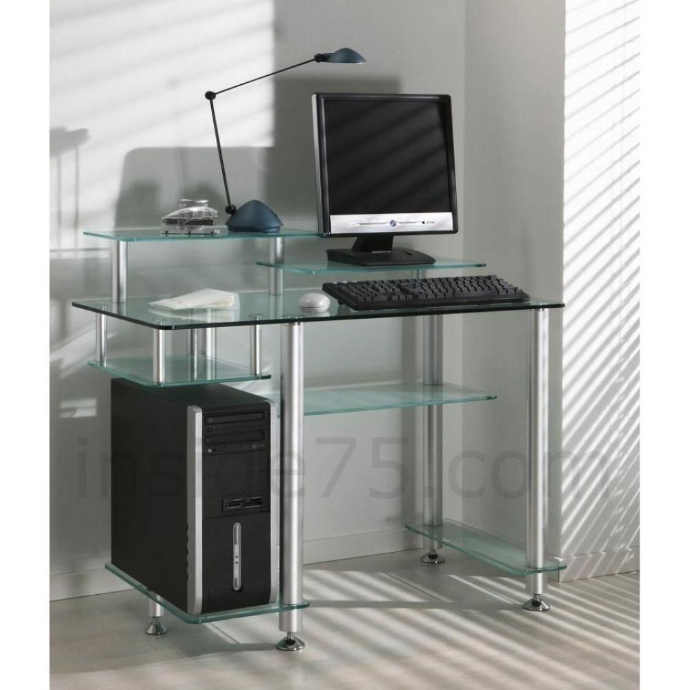 bureaux meubles et rangements little desk bureau verre transparent 7 platea. Black Bedroom Furniture Sets. Home Design Ideas