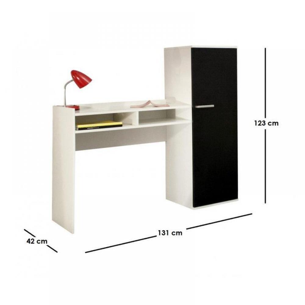 Bureaux meubles et rangements d co bureau armoire avec for Armoire bureau blanc