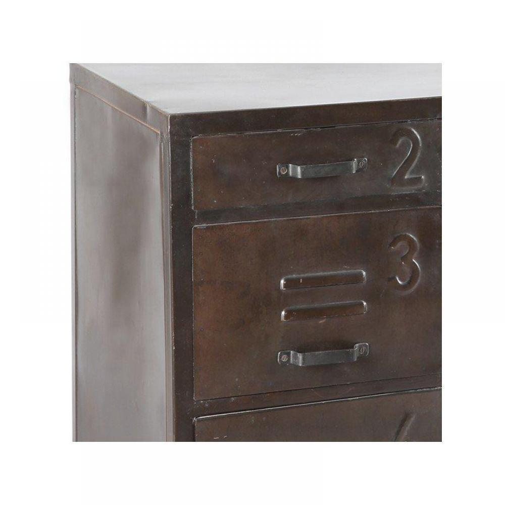 Bureaux meubles et rangements bureau ferro en acier avec for Meuble bureau 4 tiroirs