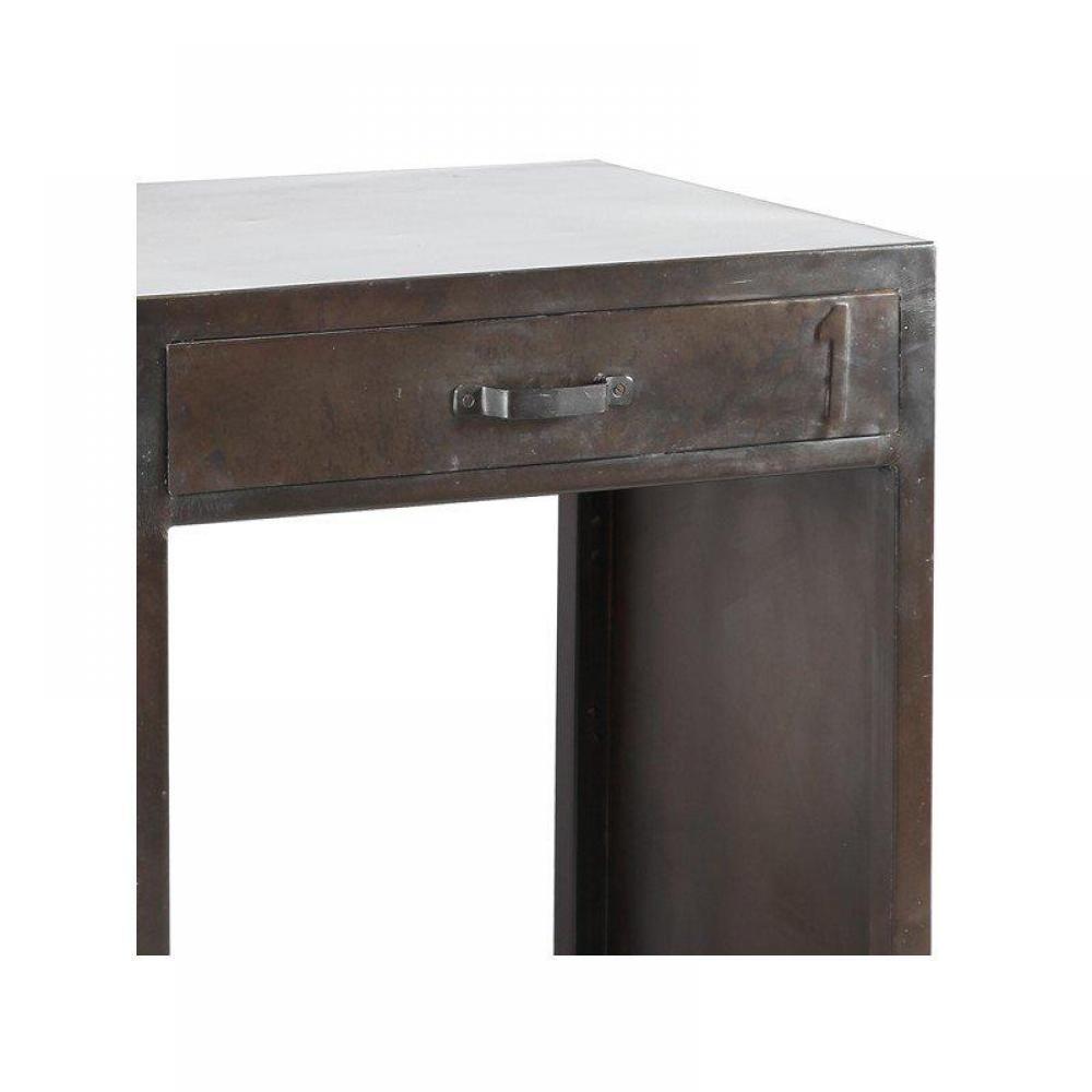 bureaux meubles et rangements bureau ferro en acier avec 4 tiroirs inside75. Black Bedroom Furniture Sets. Home Design Ideas
