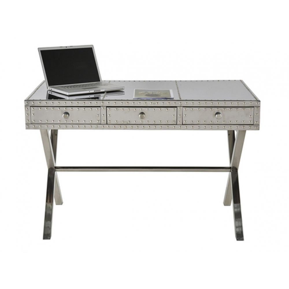Bureaux meubles et rangements bureau industriel aviateur for Bureau 3 tiroirs biface