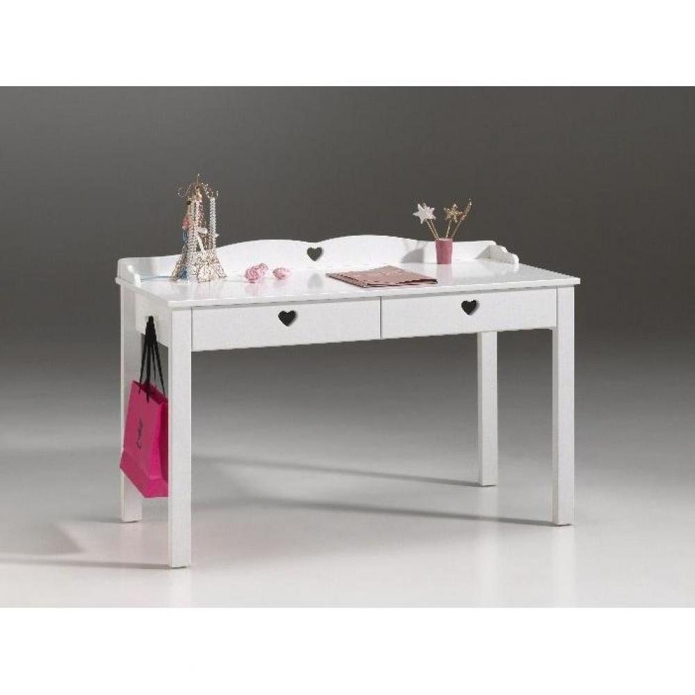 Bureaux meubles et rangements bureau mensa blanc 2 for Bureau 2 tiroirs