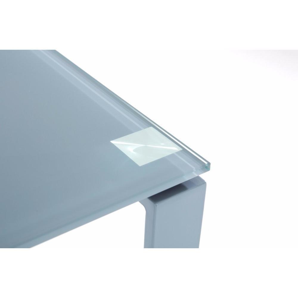 bureaux meubles et rangements bureau nasdrovia en verre tremp gris 160 cm. Black Bedroom Furniture Sets. Home Design Ideas