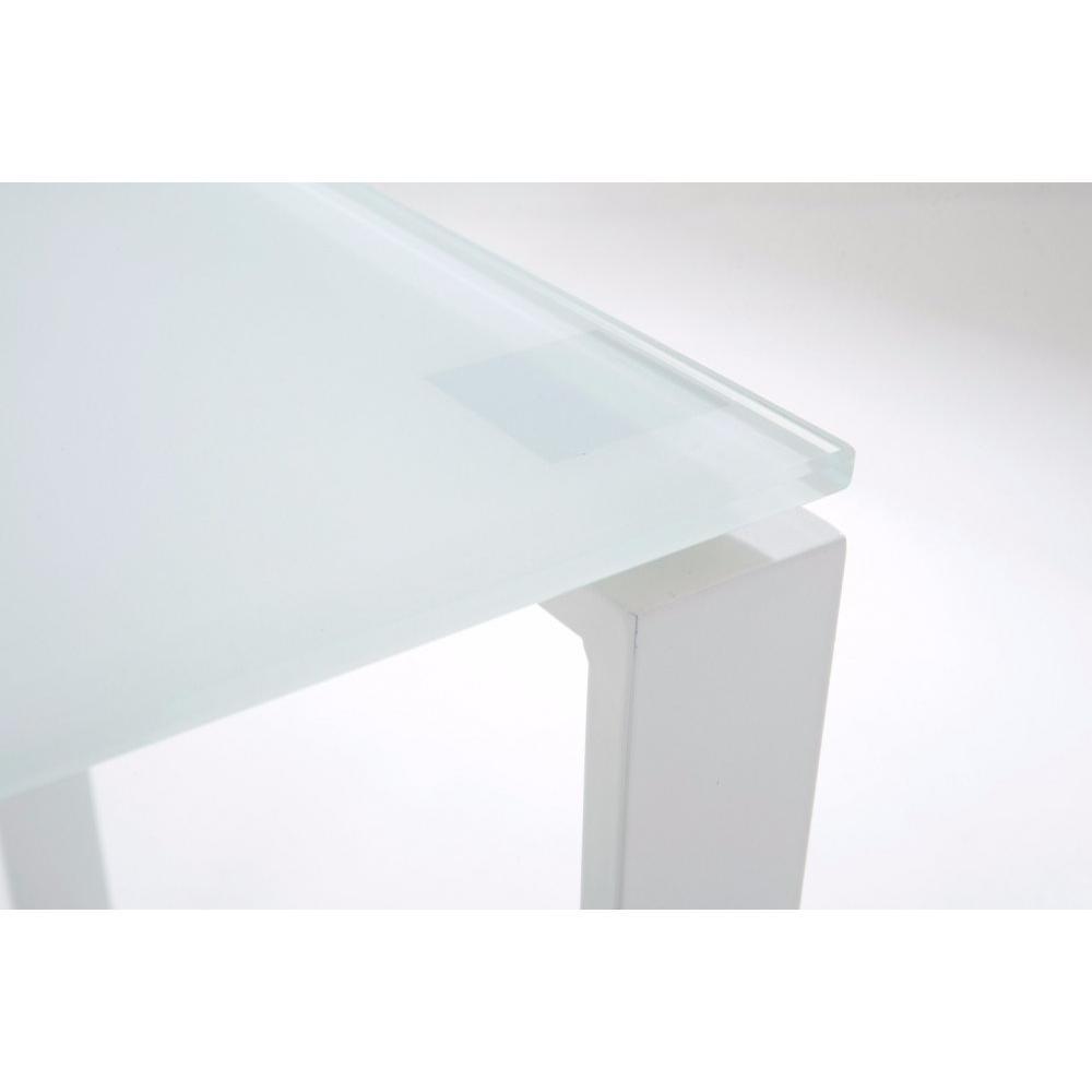 Bureaux meubles et rangements bureau nasdrovia en verre tremp blanc 120 cm - Bureau acier et verre ...