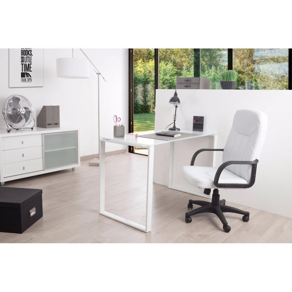 bureaux meubles et rangements bureau nasdrovia en verre tremp blanc 120 cm inside75. Black Bedroom Furniture Sets. Home Design Ideas