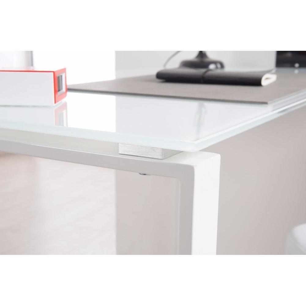 Bureau verre design contemporain maison design - Bureau verre design contemporain ...