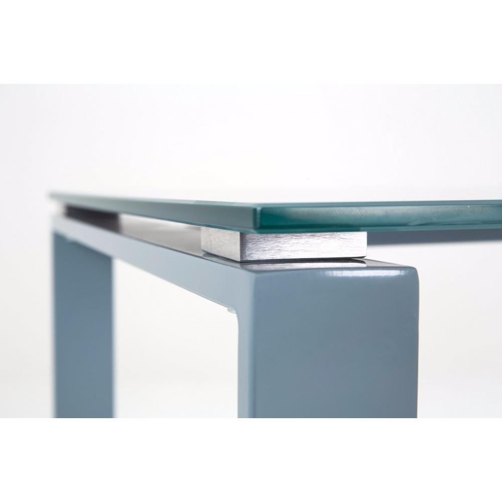 Bureaux meubles et rangements bureau nasdrovia en verre for Meuble bureau 120 cm