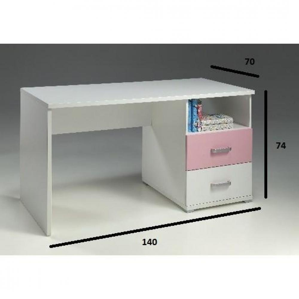 Bureaux meubles et rangements bureau orion 2 tiroirs for Bureau 2 tiroirs