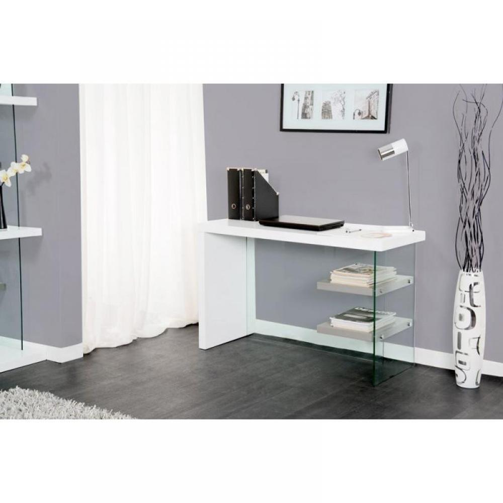 bureaux meubles et rangements bureau space blanc laqu. Black Bedroom Furniture Sets. Home Design Ideas