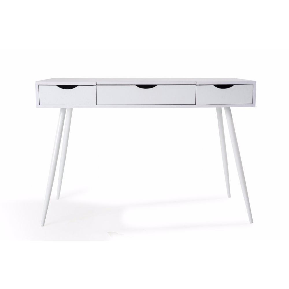 bureaux meubles et rangements bureau worky2 design 2 tiroirs blanc inside75. Black Bedroom Furniture Sets. Home Design Ideas