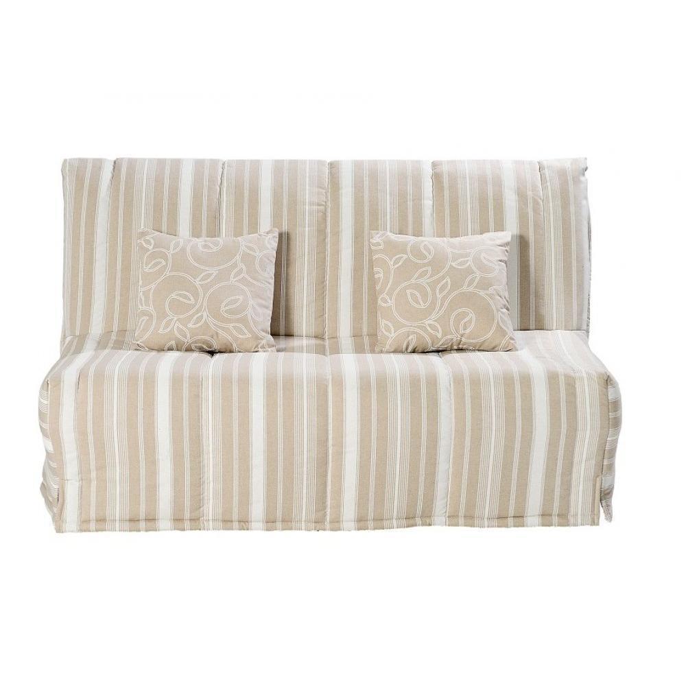 canap s lits bz canap s et convertibles canap bz convertible lou beige rayures 40 200cm. Black Bedroom Furniture Sets. Home Design Ideas
