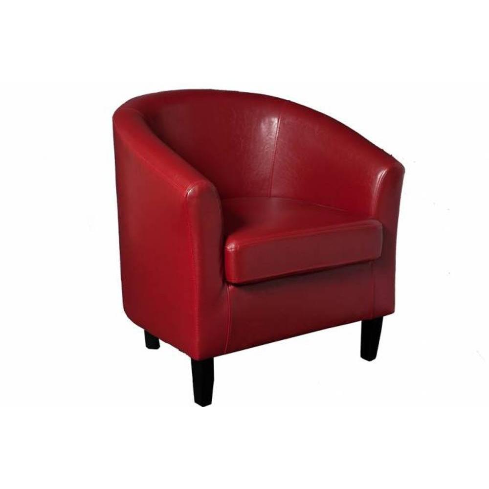 Fauteuils club fauteuils et poufs cabriolet design cosy new york rouge in - Fauteuil cabriolet design ...