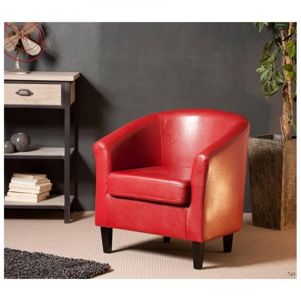 fauteuils club fauteuils et poufs cabriolet design cosy new york rouge inside75. Black Bedroom Furniture Sets. Home Design Ideas