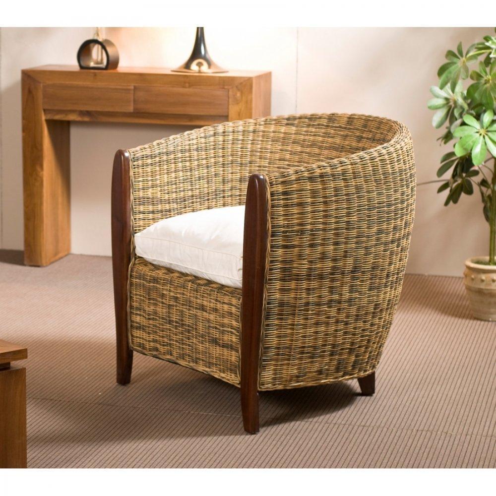 fauteuils et poufs fauteuils et poufs cabriolet bi couleur lauren lorine en rotin inside75. Black Bedroom Furniture Sets. Home Design Ideas