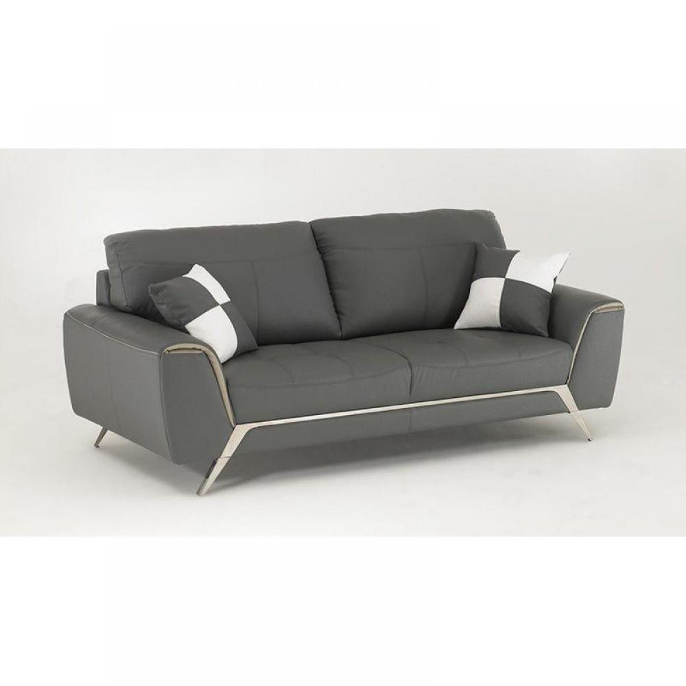 canap s fixes canap s et convertibles canap fixe california cuir eco gris. Black Bedroom Furniture Sets. Home Design Ideas