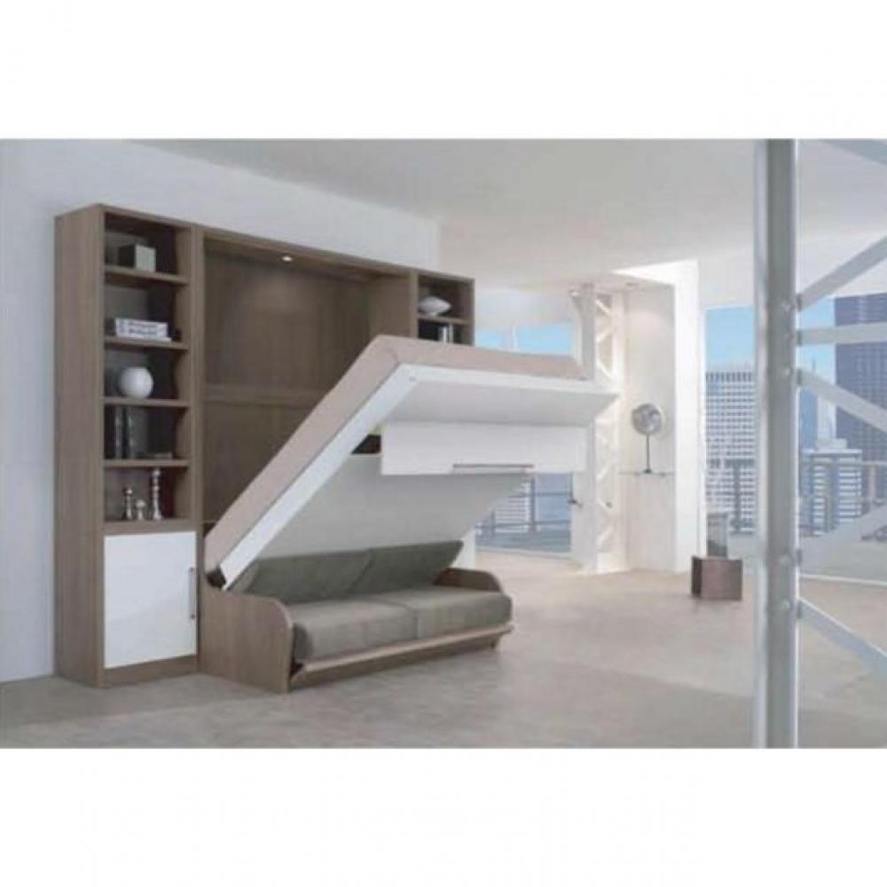armoire lit canap armoires lits escamotables armoire lit escamotable 160 14 200 cm campus. Black Bedroom Furniture Sets. Home Design Ideas