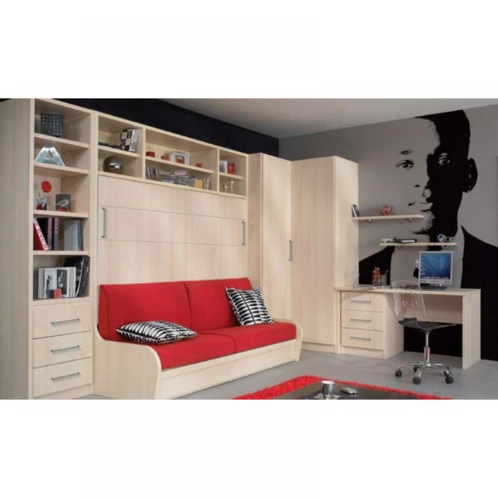 Armoire lit bureau armoires lits escamotables armoire for Meuble au dessus du lit