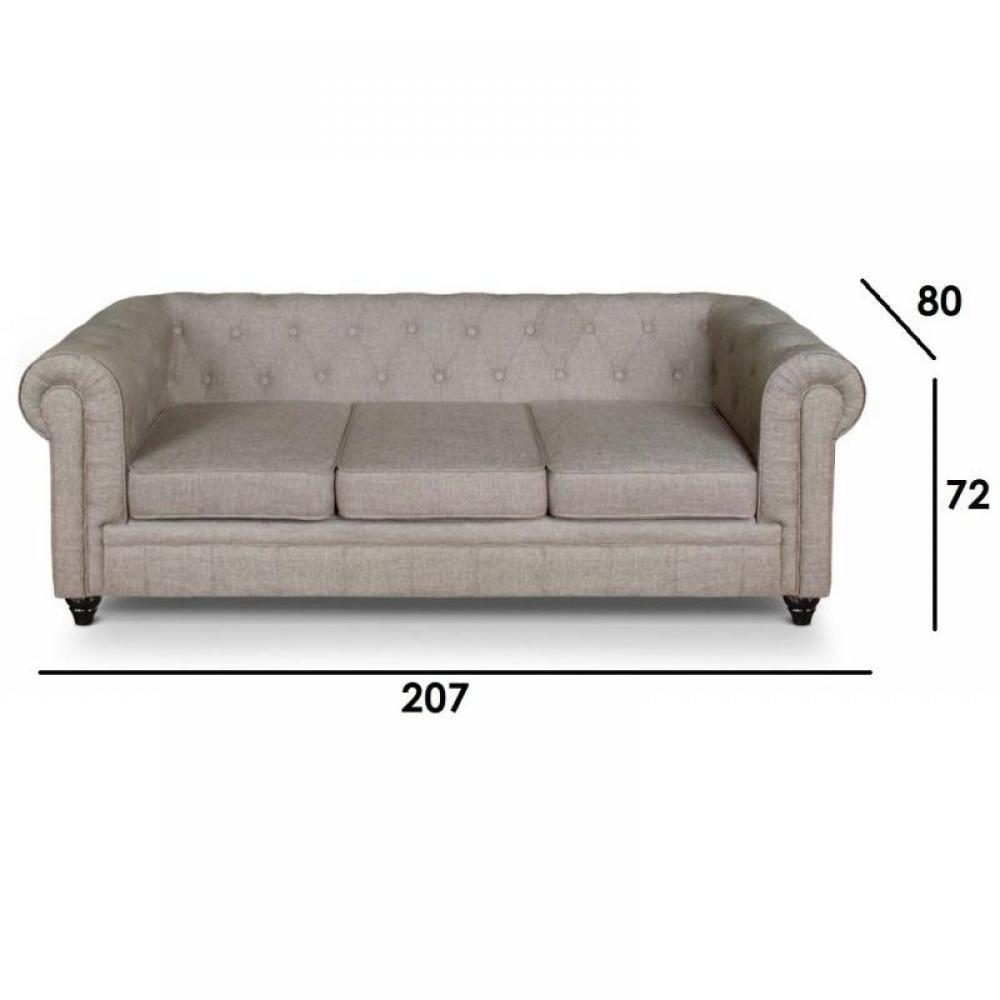 canap chesterfield fixe en cuir de vachette capitonn. Black Bedroom Furniture Sets. Home Design Ideas