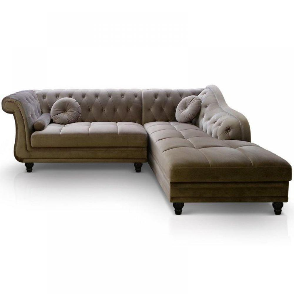 Canap s chesterfield canap s et convertibles canap d for Canape cuir taupe angle