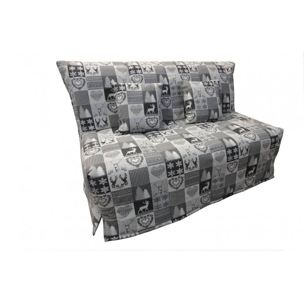 canap s lits bz canap s et convertibles canap bz convertible flo gris motifs cerfs 140. Black Bedroom Furniture Sets. Home Design Ideas