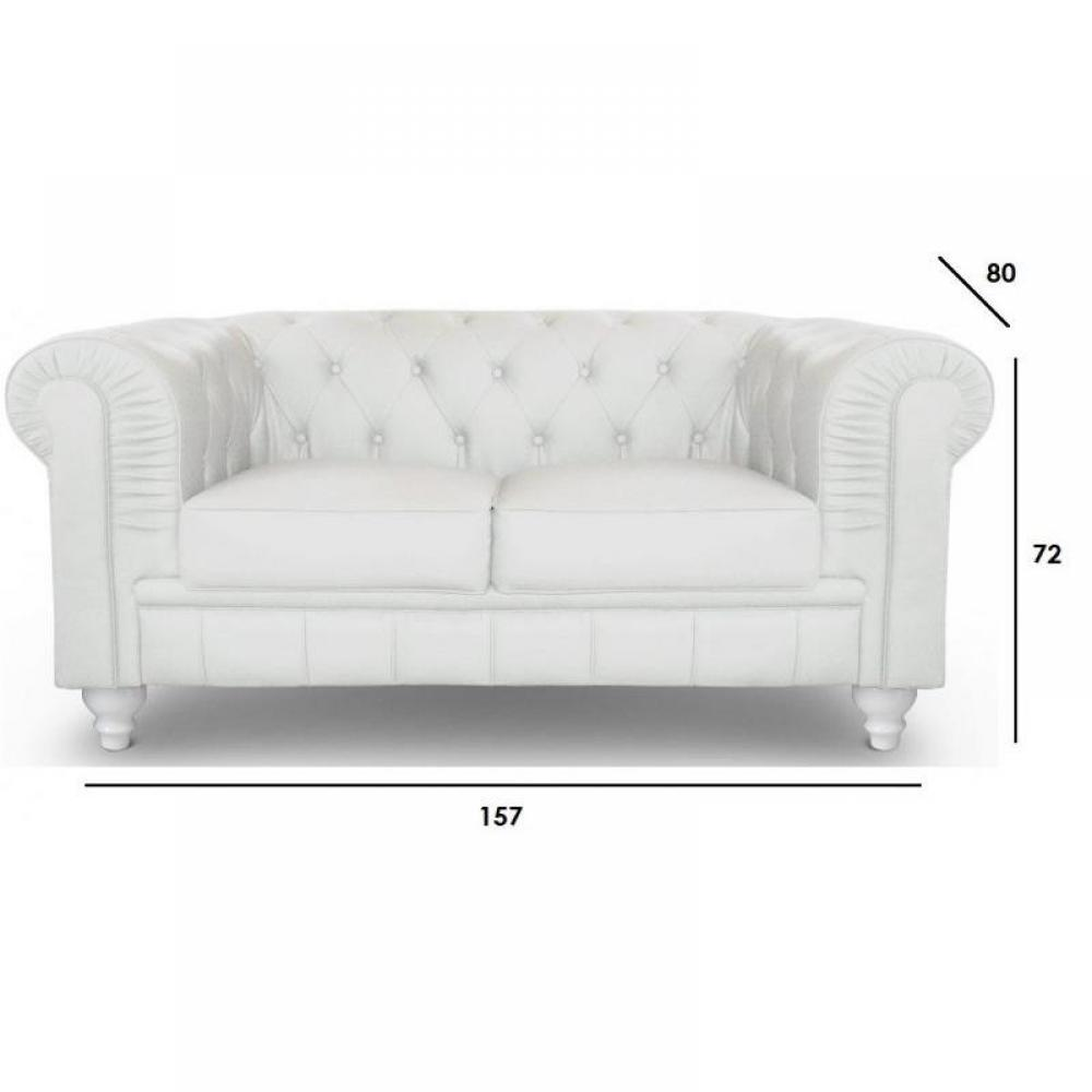 Canap s chesterfield canap s et convertibles canap fixe chesterfield royal - Canape chesterfield blanc ...